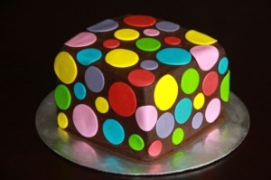 A colourful cake made by Bloom