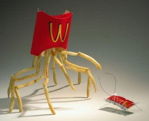 McDonalds crab and cockroach